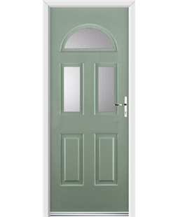 Ultimate Tennessee Rockdoor in Chartwell Green with Glazing