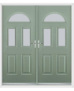 Tennessee French Rockdoor in Chartwell Green with Glazing