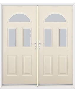 Tennessee French Rockdoor in Cream with Glazing