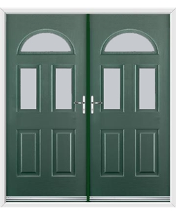 Tennessee French Rockdoor in Emerald Green with Glazing