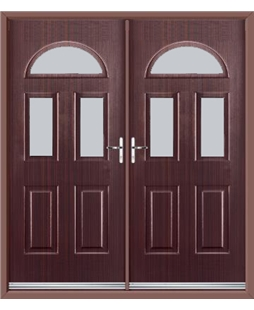 Tennessee French Rockdoor in Mahogany with Glazing