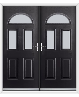 Tennessee French Rockdoor in Onyx Black with Glazing