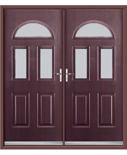 Tennessee French Rockdoor in Rosewood with Glazing