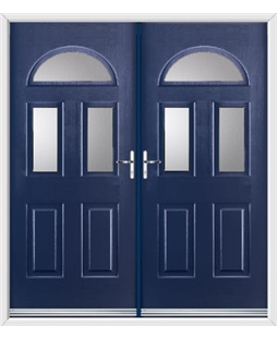 Tennessee French Rockdoor in Sapphire Blue with Glazing