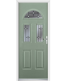 Ultimate Tennessee Rockdoor in Chartwell Green with Crystal Bevel