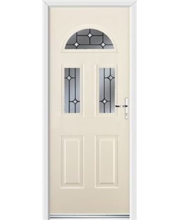 Ultimate Tennessee Rockdoor in Cream with Crystal Bevel