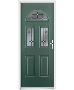 Ultimate Tennessee Rockdoor in Emerald Green with Crystal Bevel