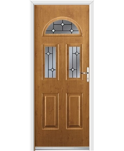Ultimate Tennessee Rockdoor in Irish Oak with Crystal Bevel