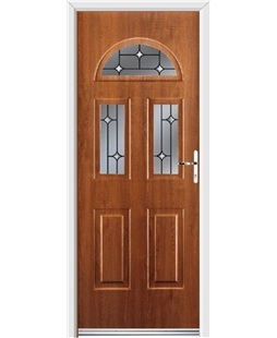 Ultimate Tennessee Rockdoor in Light Oak with Crystal Bevel