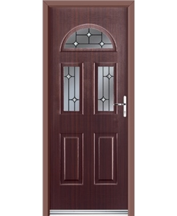 Ultimate Tennessee Rockdoor in Mahogany with Crystal Bevel