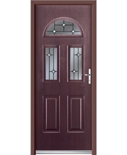 Ultimate Tennessee Rockdoor in Rosewood with Crystal Bevel