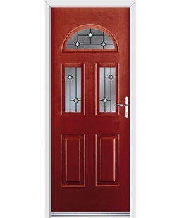 Ultimate Tennessee Rockdoor in Ruby Red with Crystal Bevel