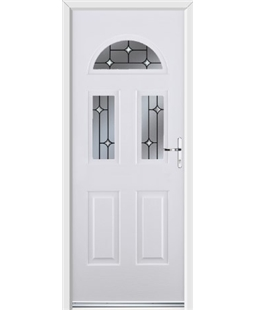 Ultimate Tennessee Rockdoor in White with Crystal Bevel