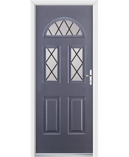 Ultimate Tennessee Rockdoor in Anthracite Grey with Diamond Lead