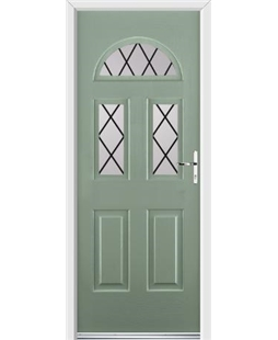 Ultimate Tennessee Rockdoor in Chartwell Green with Diamond Lead