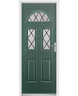 Ultimate Tennessee Rockdoor in Emerald Green with Diamond Lead