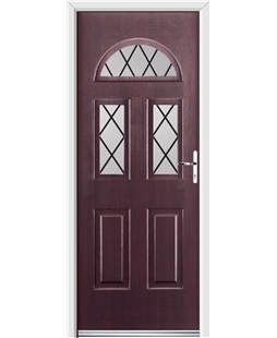 Ultimate Tennessee Rockdoor in Rosewood with Diamond Lead