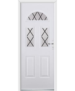 Ultimate Tennessee Rockdoor in White with Diamond Lead