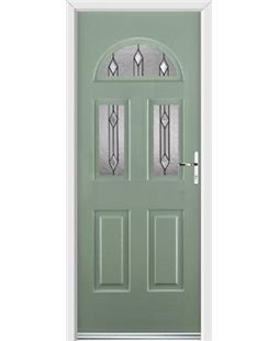 Ultimate Tennessee Rockdoor in Chartwell Green with Dorado Glazing