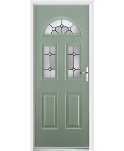 Ultimate Tennessee Rockdoor in Chartwell Green with Ellipse Glazing