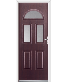 Ultimate Tennessee Rockdoor in Rosewood with Glazing