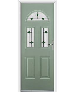 Ultimate Tennessee Rockdoor in Chartwell Green with Green Diamonds