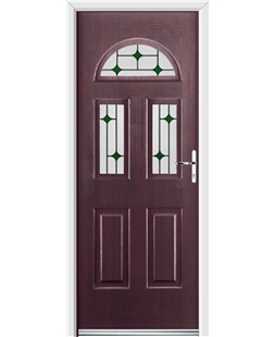 Ultimate Tennessee Rockdoor in Rosewood with Green Diamonds
