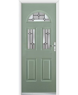 Ultimate Tennessee Rockdoor in Chartwell Green with Linear Glazing