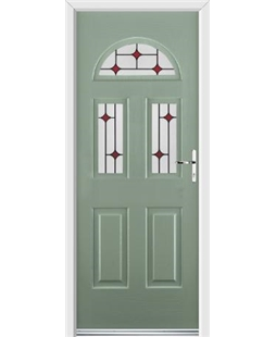 Ultimate Tennessee Rockdoor in Chartwell Green with Red Diamonds