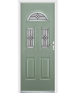 Ultimate Tennessee Rockdoor in Chartwell Green with Summit Glazing