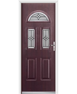 Ultimate Tennessee Rockdoor in Rosewood with Summit Glazing