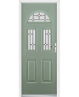 Ultimate Tennessee Rockdoor in Chartwell Green with White Diamonds