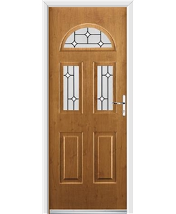 Ultimate Tennessee Rockdoor in Irish Oak with White Diamonds