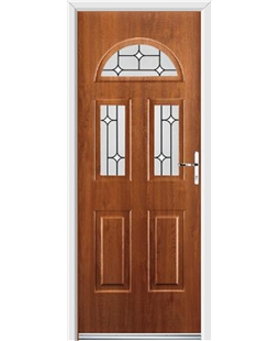 Ultimate Tennessee Rockdoor in Light Oak with White Diamonds