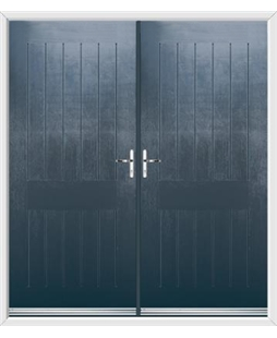 Tongue & Groove French Rockdoor in Anthracite Grey