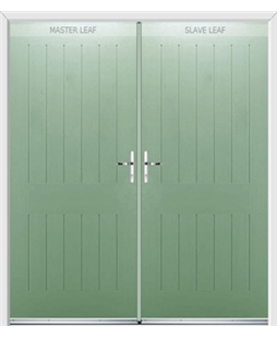 Tongue & Groove French Rockdoor in Chartwell Green