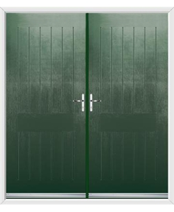 Tongue & Groove French Rockdoor in Emerald Green