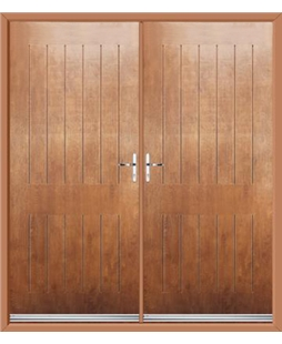Tongue & Groove French Rockdoor in Light Oak