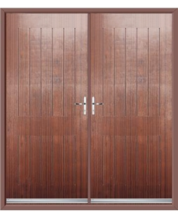 Tongue & Groove French Rockdoor in Mahogany