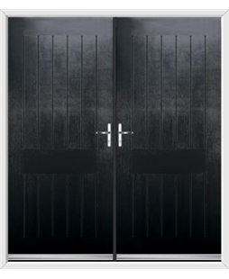 Tongue & Groove French Rockdoor in Onyx Black