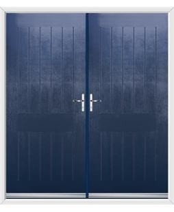 Tongue & Groove French Rockdoor in Sapphire Blue