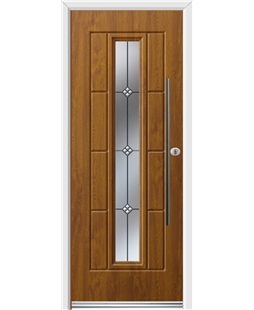 Ultimate Vermont Rockdoor in Light Oak with Trio and Bar Handle