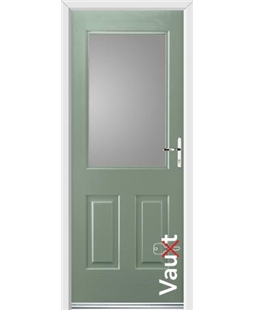Ultimate Vault Rockdoor in Chartwell Green with Glazing
