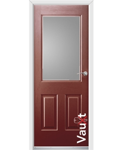 Ultimate Vault Rockdoor in Ruby Red with Glazing
