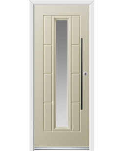 Ultimate Vermont Rockdoor in Cream with Glazing and Bar Handle