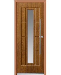Ultimate Vermont Rockdoor in Light Oak with Glazing and Bar Handle