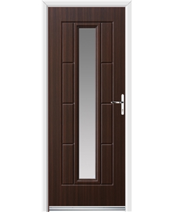 Ultimate Vermont Rockdoor in Mahogany with Glazing