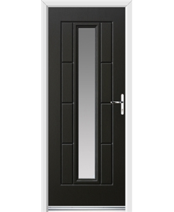 Ultimate Vermont Rockdoor in Onyx Black with Glazing