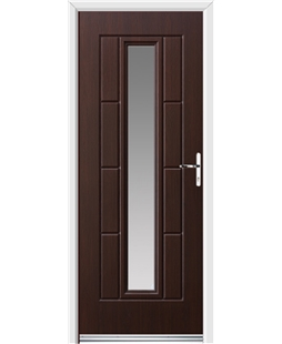 Ultimate Vermont Rockdoor in Rosewood with Glazing