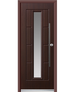 Ultimate Vermont Rockdoor in Rosewood with Glazing and Bar Handle